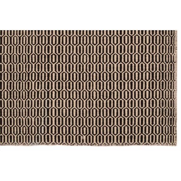 Ručně tkaný koberec Brown Retro Kilim, 158x229 cm