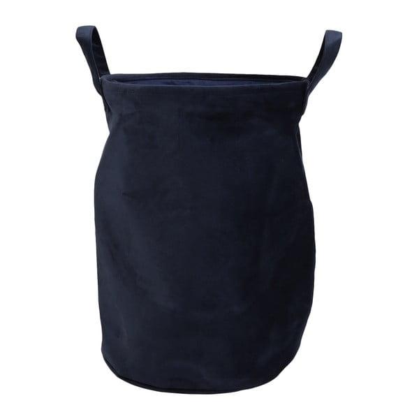 Modrý koš na prádlo se sametovým potahem House Nordic Catania