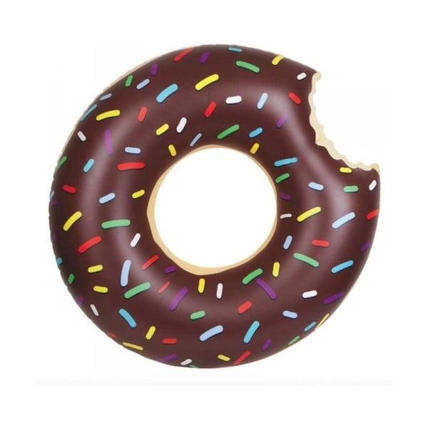Hnědý nafukovací kruh Gadgets House Donut, Ø 105 cm