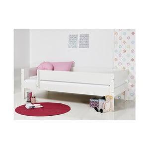 Bílá dětská postel s bezpečnostními postranními pelestmi Manis-h Huxie, 90x200cm