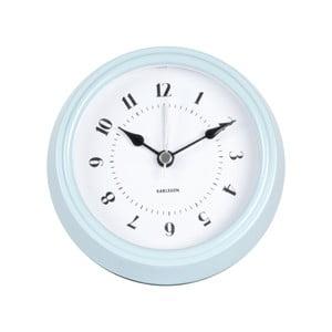 Modré nástěnné hodiny Karlsson Fifties, průměr 11,5cm