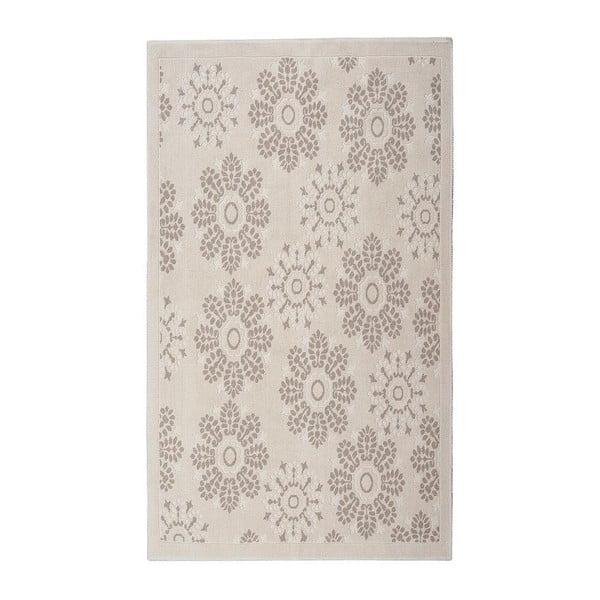 Krémově bílý bavlněný koberec Randa 100x200 cm