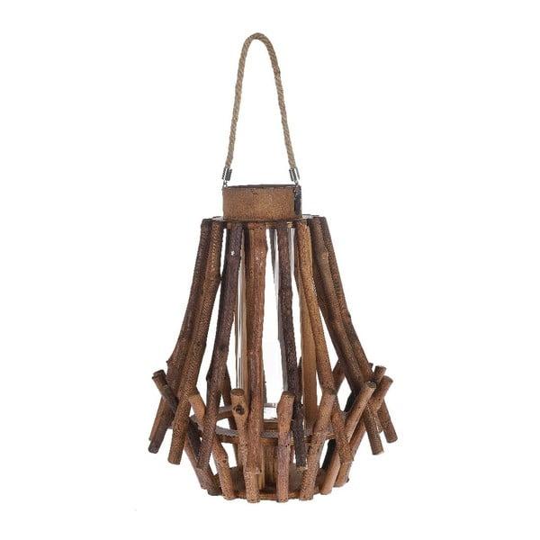 Dřevěná lucerna Bamboo, 31x38 cm