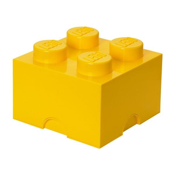 Sárga szögletes tárolódoboz - LEGO®
