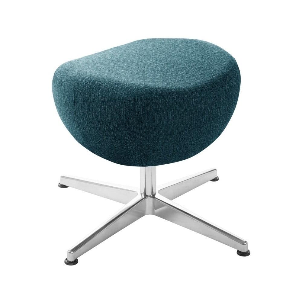 Tyrkysová otočná stolička/podnožka My Pop Design Indiana