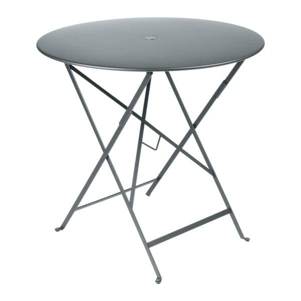 Šedý zahradní stolek Fermob Bistro, Ø 77 cm