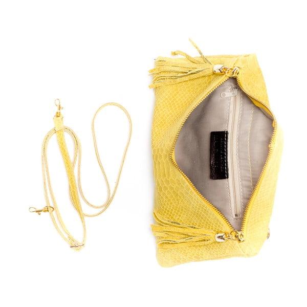 Kožená kabelka Roberta M. 808 Giallo