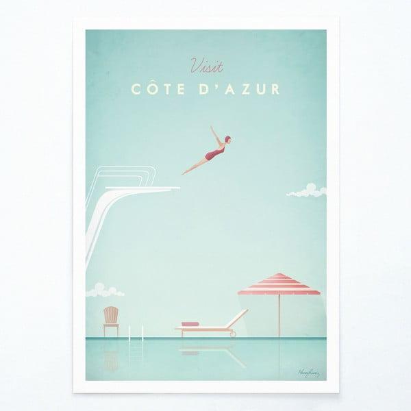 Plagát Travelposter Côte d'Azur, A3