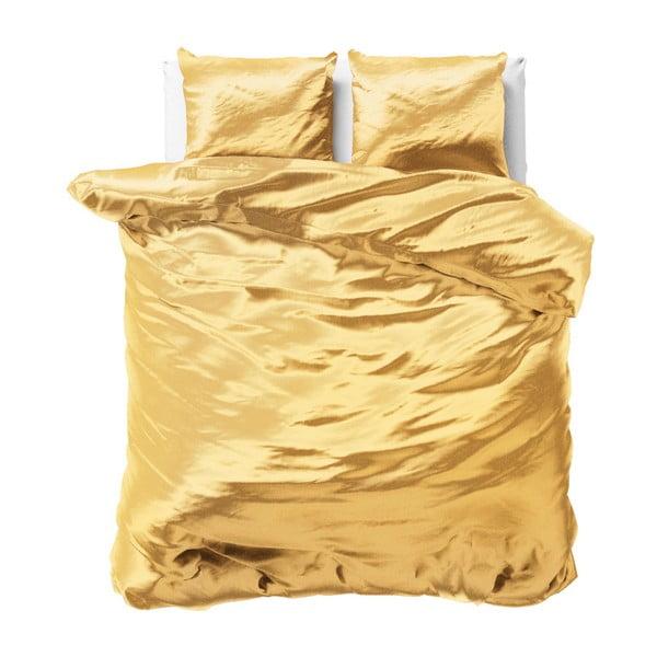 Lenjerie de pat din micropercal Sleeptime, 200 x 220 cm, galben