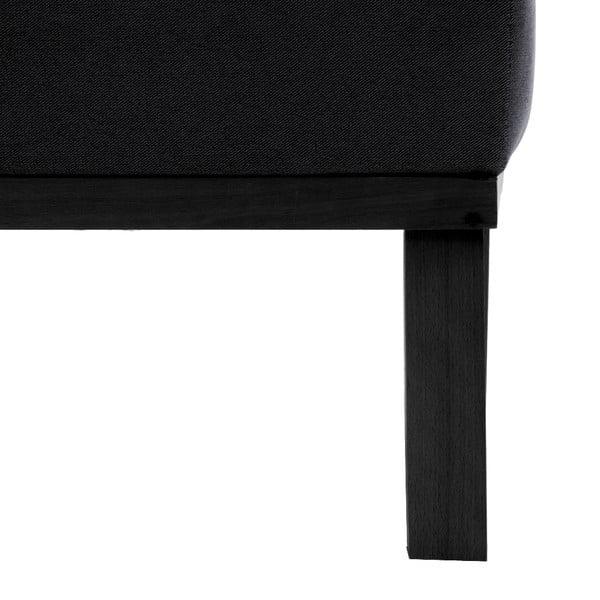 Tmavě šedá trojmístná pohovka Vivonita Jonan, levá strana a černé nohy