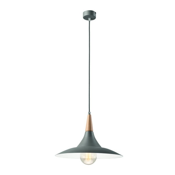 Szara lampa wisząca Lamkur Umbrella