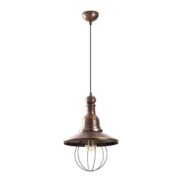 Czarna metalowa lampa wisząca w miedzianym kolorze Opviq lights Dariea
