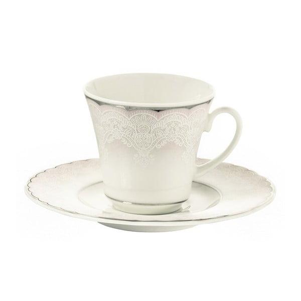 Sada 6 porcelánových šálok s tanierikom Kutahya Sweden, 50 ml