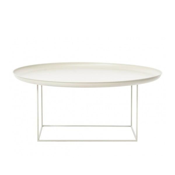 Bílý velký odkládací stolek NORR11 Duke