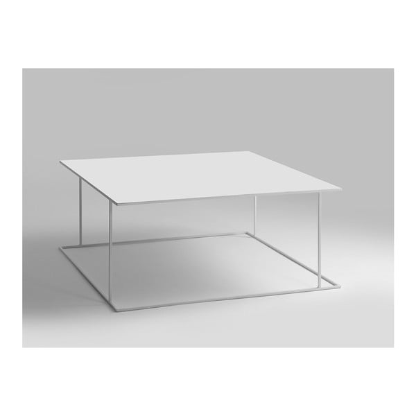 Walt fehér dohányzóasztal, 100 x 100 cm - Custom Form