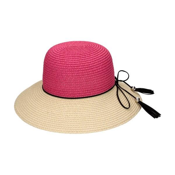 Slaměný klobouk Fuchsia/Natural