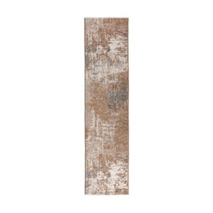 Covor reversibil Homemania Maleah, 300 x 75 cm, maro-albastru