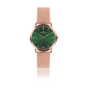 Unisex hodinky s páskem z nerezové oceli v růžovozlaté barvě Frederic Graff Green