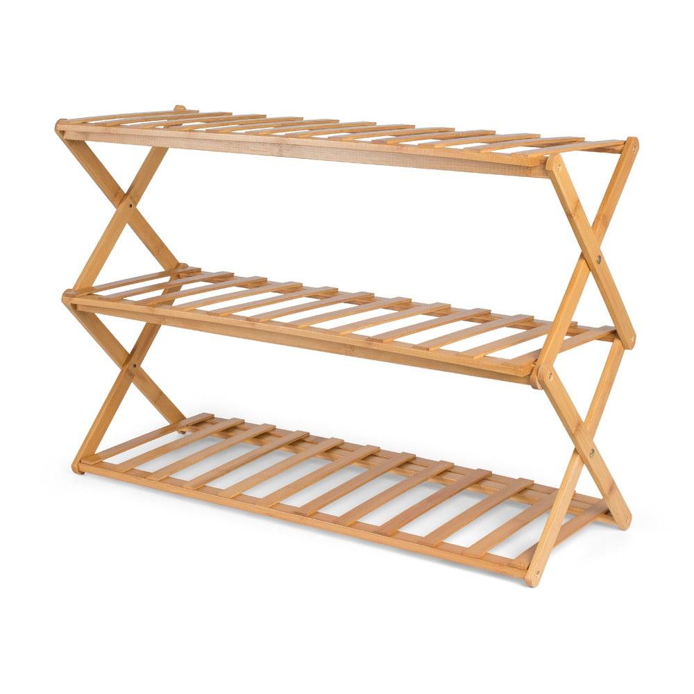 Bambusový skládací botník Compactor Moso