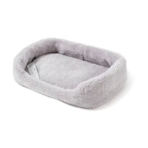 Pat coș din lână merino, pentru animale de companie Royal Dream, lățime 60 cm, gri deschis