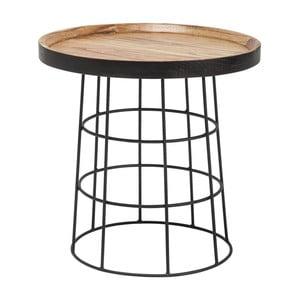 Černohnědý odkládací stolek Kare Design Country Life, ⌀ 53 cm