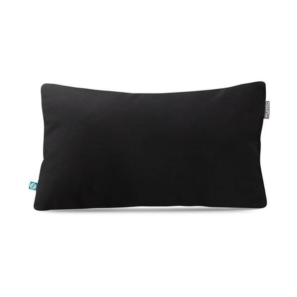 Čierna obliečka na vankúš Mumla Velour, 30 × 50 cm
