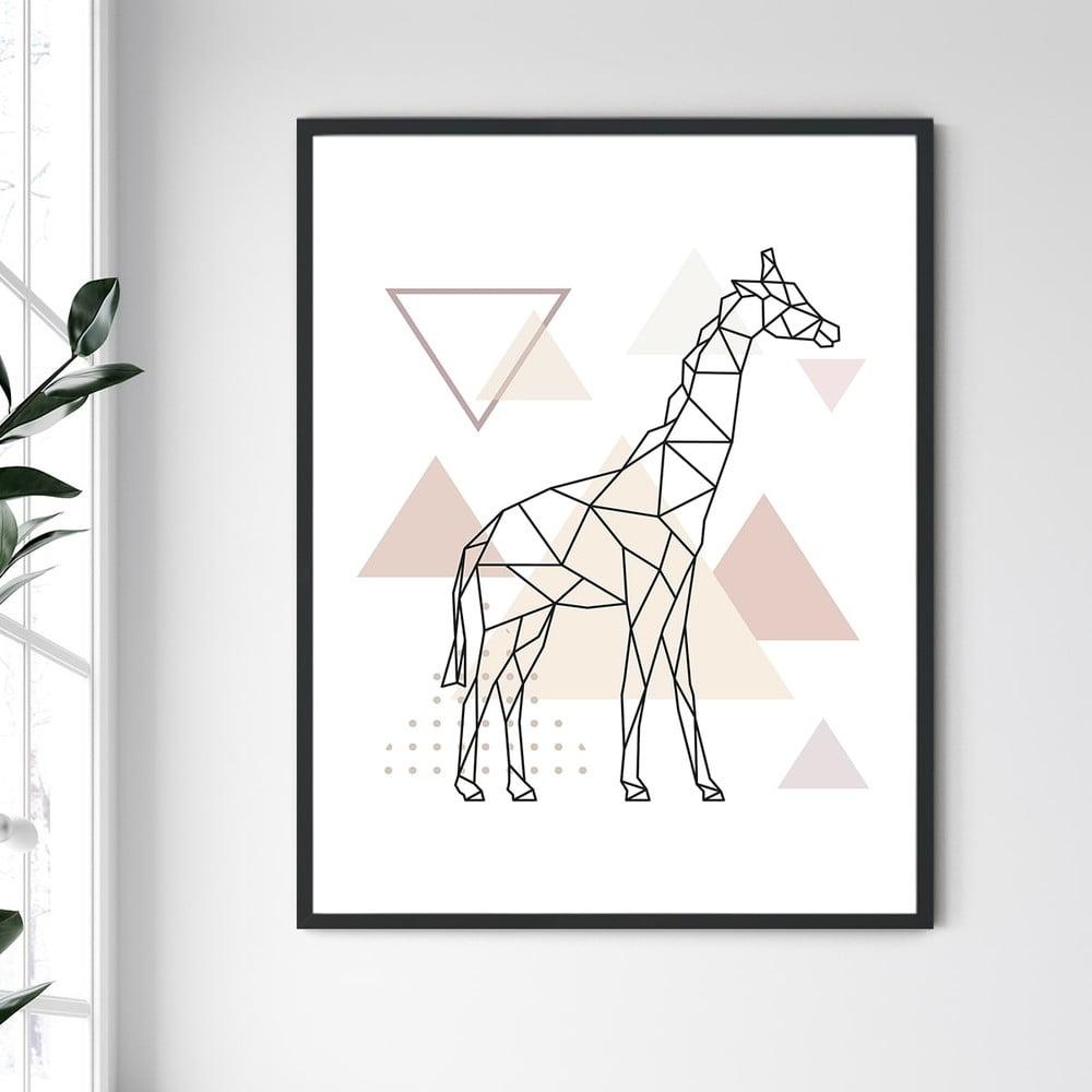 Nástěnný obraz v rámu North Carolina Frame Giraffe II, 30 x 40 cm