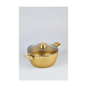 Cratiță cu capac Bisetti Stonegold Gold Handles