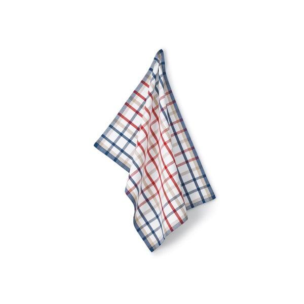 Utěrka Frida, červeno-modrá kostka