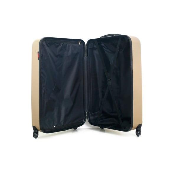 Cestovní kufr ve zlaté barvě na kolečkách Hero Ioulia, 37 l
