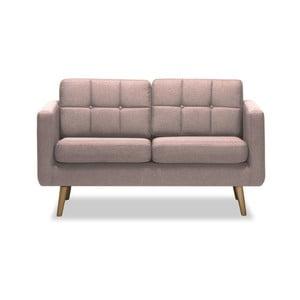 Canapea cu 2 locuri Vivonita Magnus, roz deschis