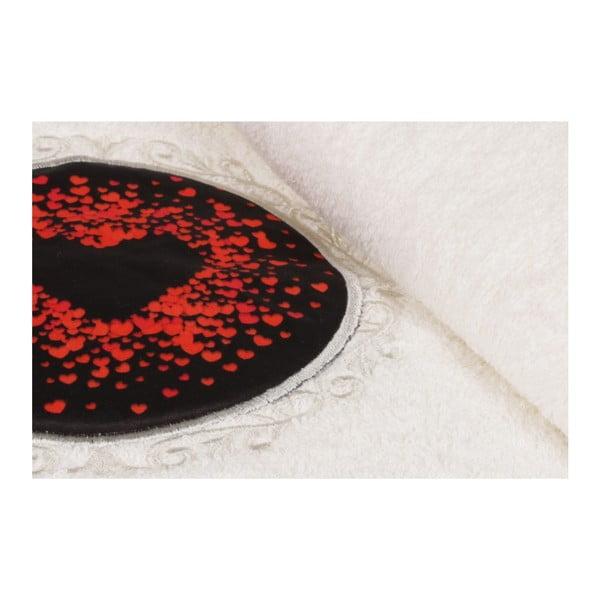Set bílého ručníku a bílé osušky s barevným detailem Passion