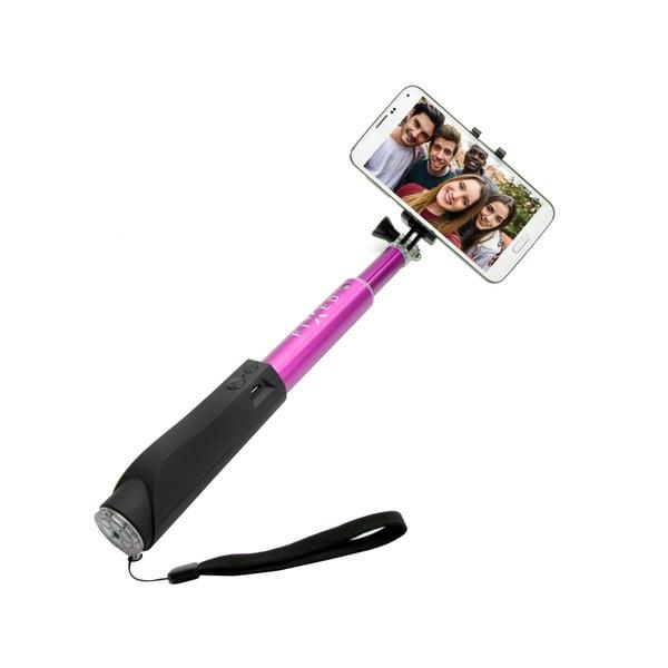 Růžová teleskopická selfie tyč Fixed v luxusním hliníkovém provedení