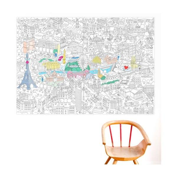 Omalovánka OMY Paris (70 x 100 cm)