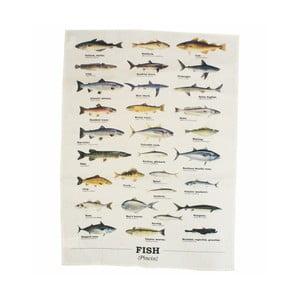 Prosop din bumbac Gift Republic Multi Fish