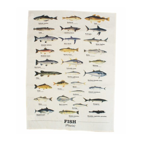 Prosop din bumbac Gift Republic Multi Fish