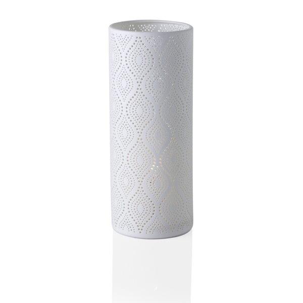 Porcelanowa lampa stołowa Brandani Eclectic, wys. 28 cm