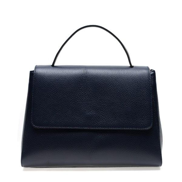 Tmavomodrá kožená kabelka do ruky Renata Corsi