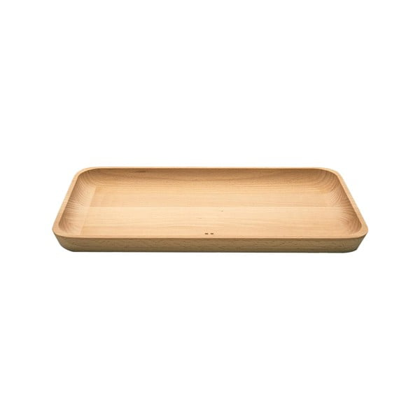 Dřevěný podnos Sola Flow, 30x17cm