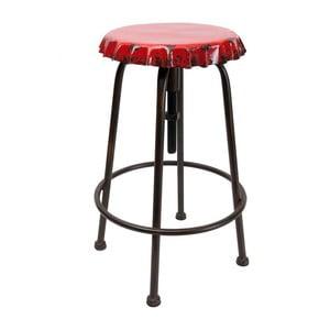 Kovová stolička Tabouret Vintage Soda