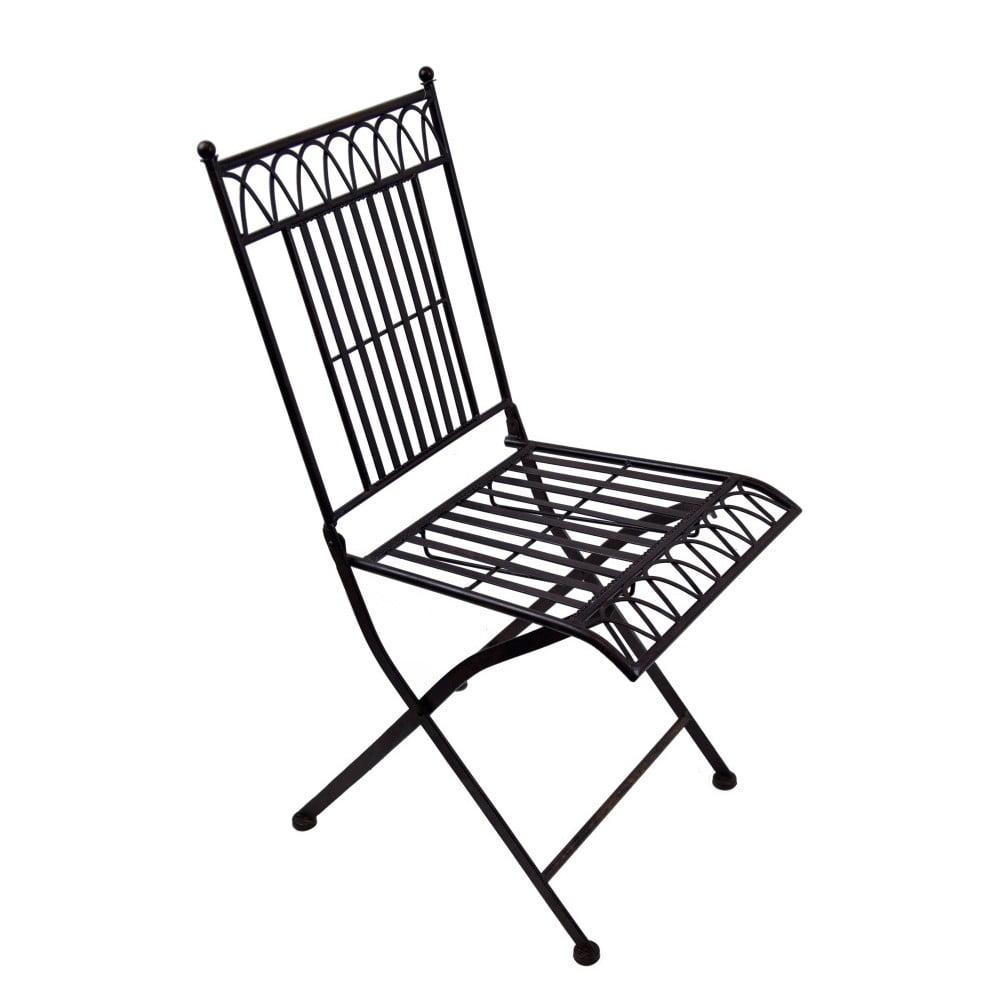 Černá kovová zahradní židle Ego Dekor