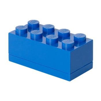 Cutie depozitare LEGO® Mini Box Blue Lungo, albastru de la LEGO®
