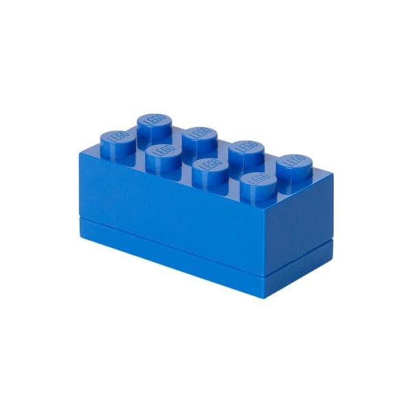 Cutie depozitare LEGO® Mini Box Blue Lungo, albastru