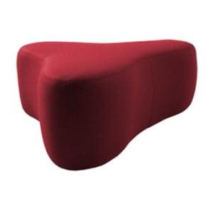 Tmavě červený puf Softline Chat Felt Red, délka 90 cm