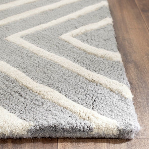Šedý vlněný koberec Safavieh Prita, 152x243cm
