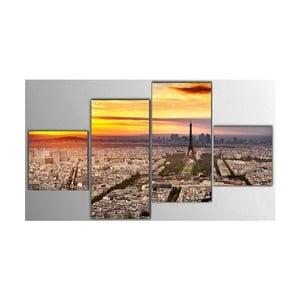 4dílný obraz Paris, 50x100 cm