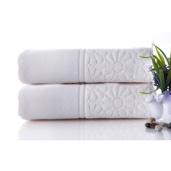 Set dvou ručníků Samba Ecru, 50x90 cm