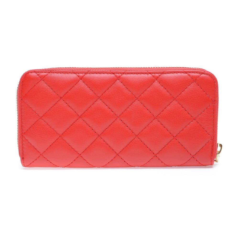 Červená kožená peněženka Roberta M Adelina