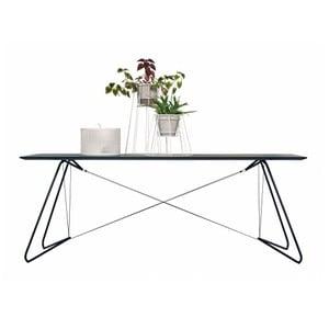 Jídelní/pracovní stůl On A String, černý, 170x90 cm