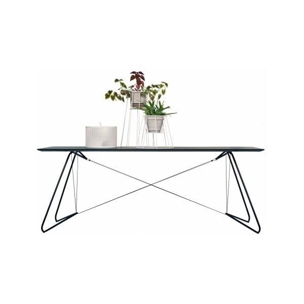 Jídelní/pracovní stůl On A String, černý, 200x90 cm